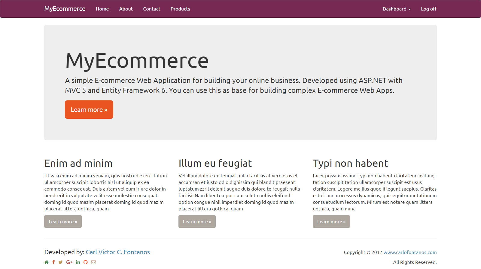 Asp Mvc E Commerce