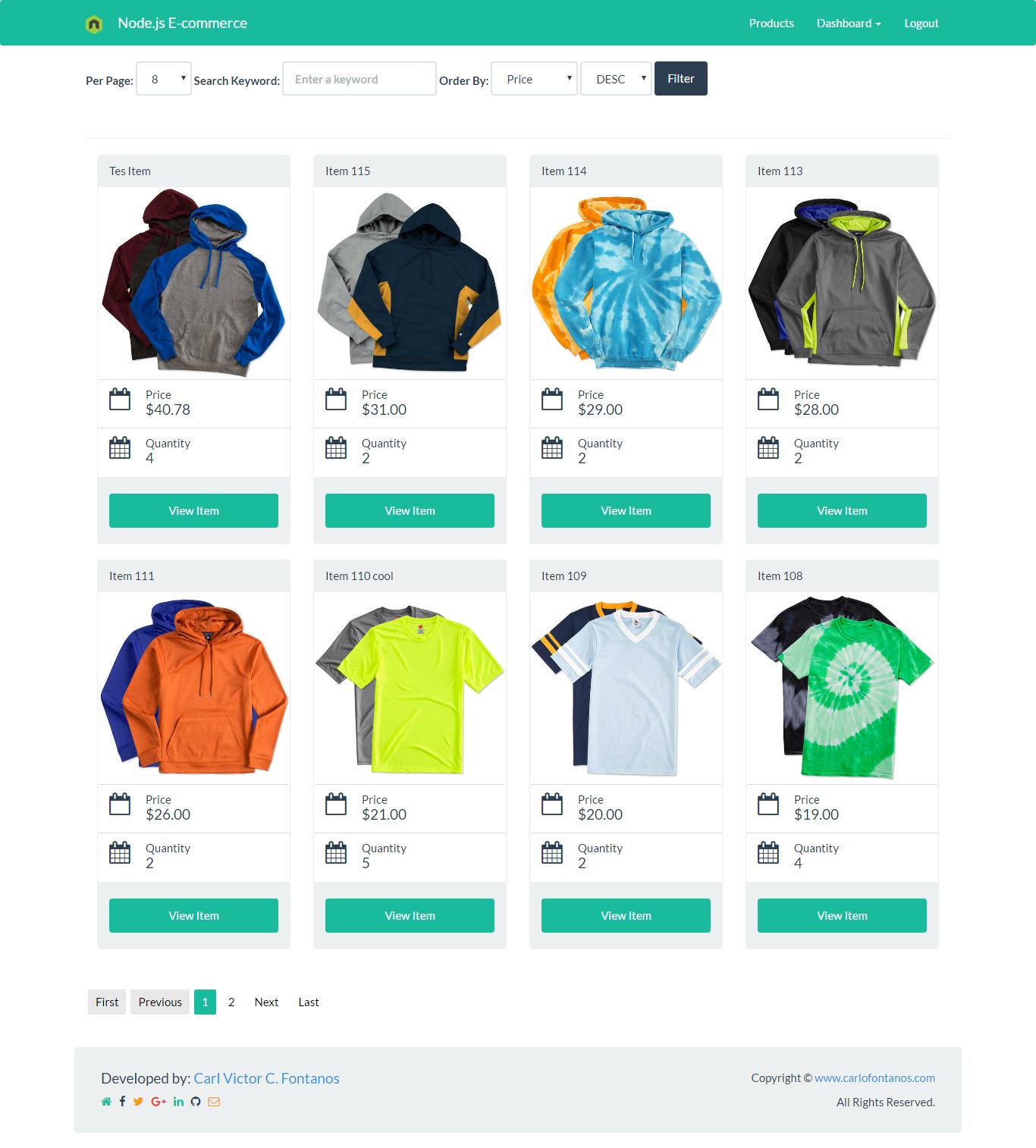 Node js E-commerce