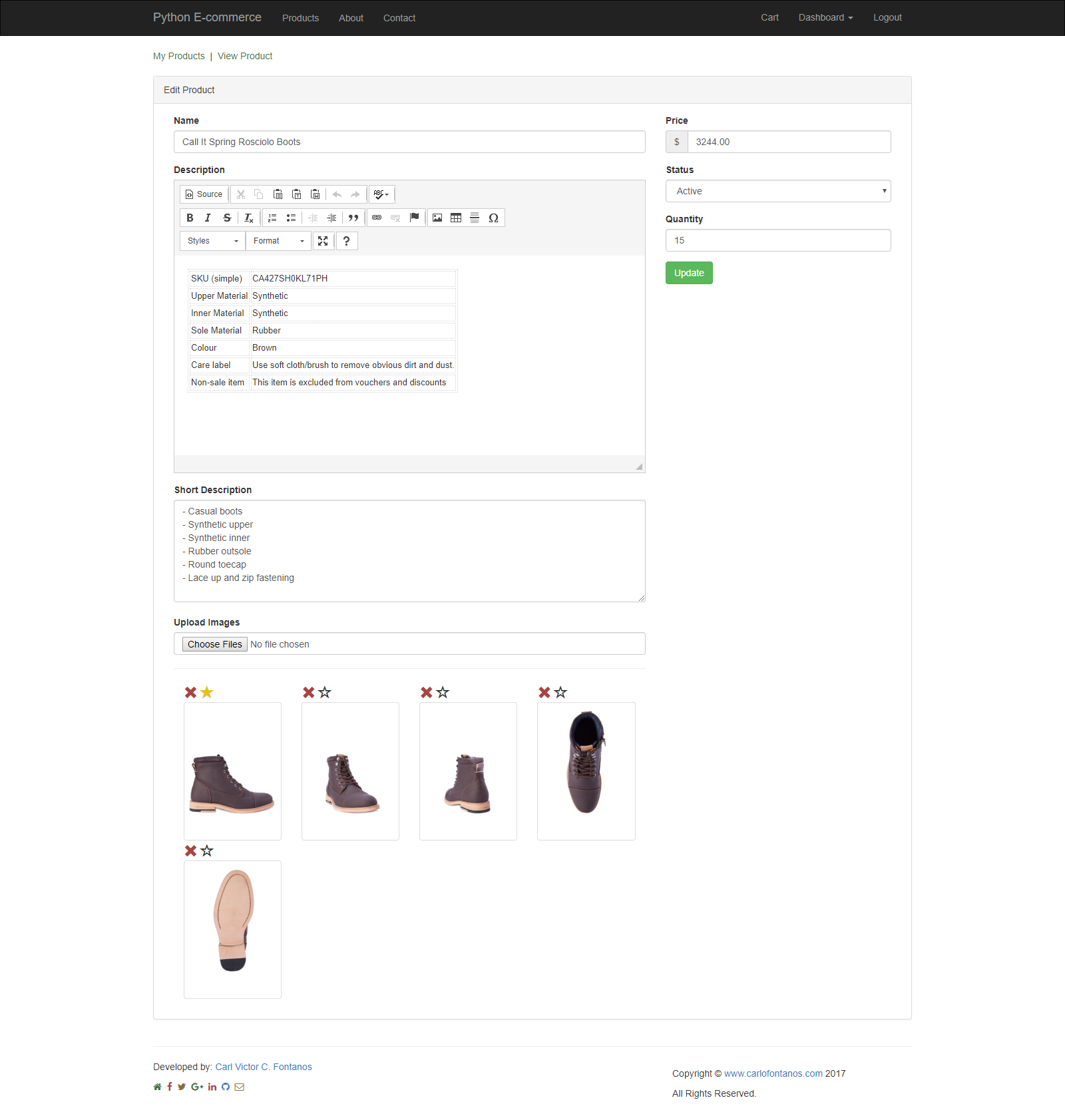 Python E-commerce
