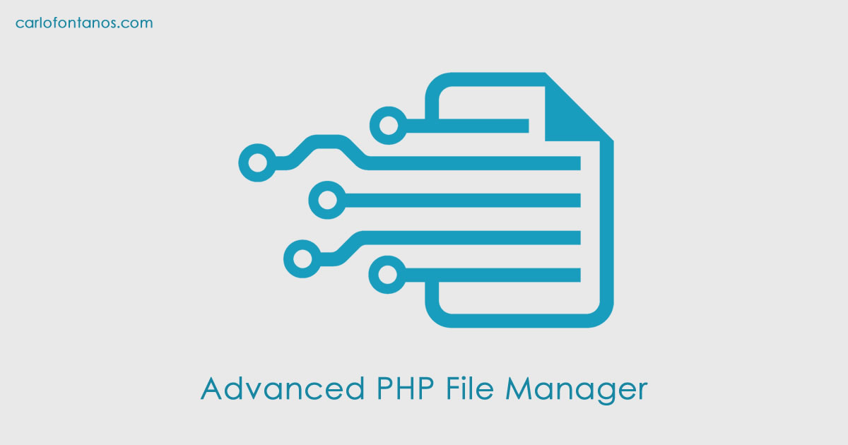 Advanced PHP File Manager